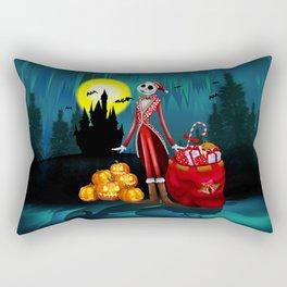Halloween Jack santa claus Skellington iPhone 4 4s 5 5c 6, ipod, ipad, pillow case Rectangular Pillow
