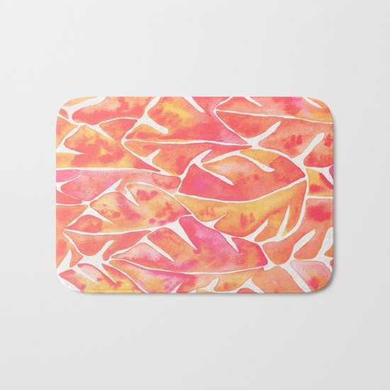 Split Leaf Philodendron – Melon Palette Bath Mat