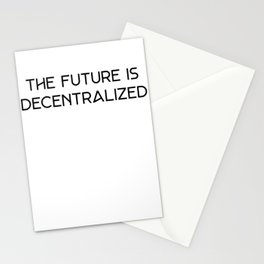 Decentralize - The Future is Decentralized Crypto Blockchain Stationery Cards