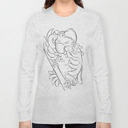 Pirate Parrot - ink Long Sleeve T-shirt