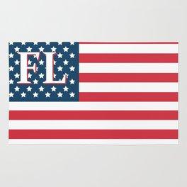 Florida American Flag Rug