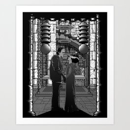 The Monster's bride. Art Print