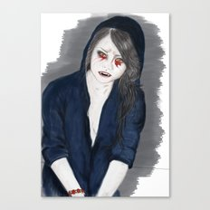 Vampire Girl Canvas Print