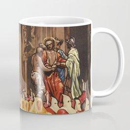 Italian travel ad Christian Easter procession Trapani Coffee Mug