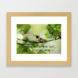 Hummingbird Miracles Framed Art Print