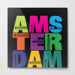 Netherlands Netherlands Flag Amsterdam Holland Metal Print