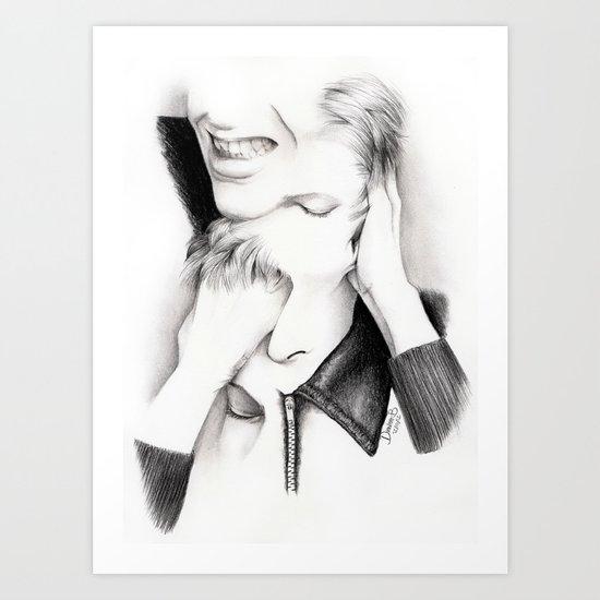 DECONSTRUCTION OF DAVID BOWIE  Art Print