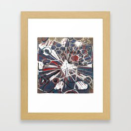 Abstract Duck Face Framed Art Print