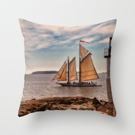 Keeping Vessels Safe Throw Pillow