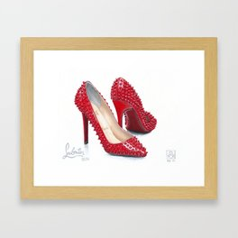 Spiked Pumps Painting Framed Art Print