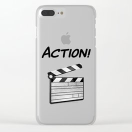 Action! Clear iPhone Case