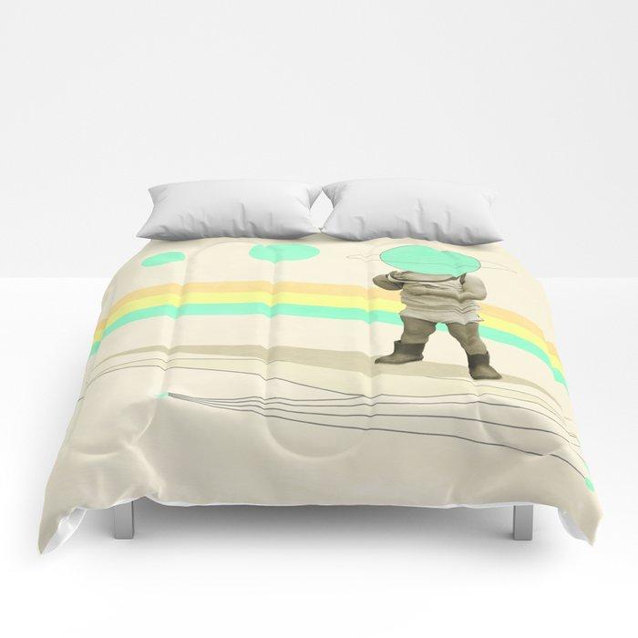he believes he can fly Comforters