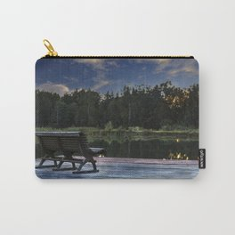 Lonely bench in the sunset Carry-All Pouch