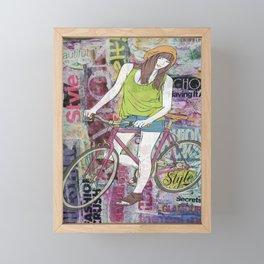 I Ride My Bicycle Framed Mini Art Print