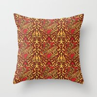 gryffindor Throw Pillows featuring Gryffindor by Cryptovolans