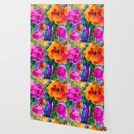 Floral Enchantment No.17E by Kathy Morton Stanion Wallpaper