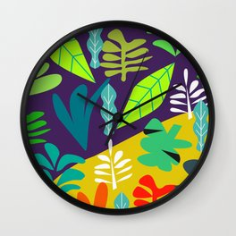 Tropical in two parts Wall Clock