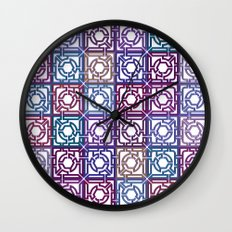 Colorful Maze V Wall Clock