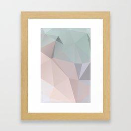Pastell 2 – modern polygram illustration, wall art print Framed Art Print