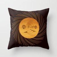 sun and moon Throw Pillows featuring sun-moon by Vila Propuh