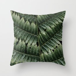 Silver Tree Fern, Botanical plant, Close Up - Plant Photography Art Print Throw Pillow