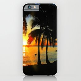 Sunset on Exotic Beach iPhone Case