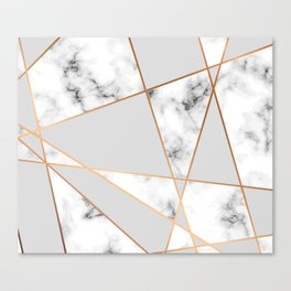 Copper smokey marble geo Canvas Print
