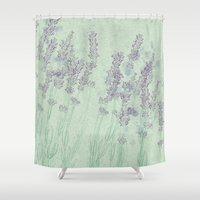 lavender Shower Curtains featuring Lavender by Dana Martin