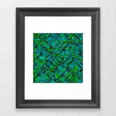 Vitrage (Turquoise) Framed Art Print