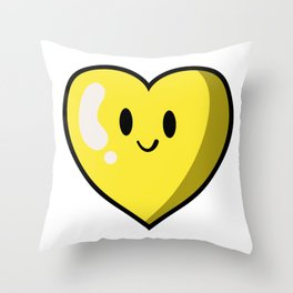 Yellow Heart (Valentines Edition) Throw Pillow
