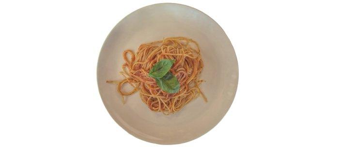 isolated italian spaghetti with tomato sauce and basil Coffee Mug