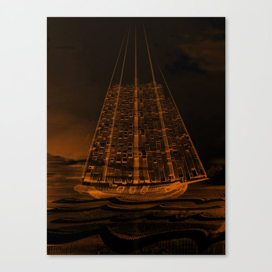 The Flying Dutchman / Legend, sepia 21-11-16 Canvas Print