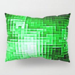 Nebula Pixels Emerald Green Pillow Sham