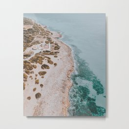Summer Coast III / Far de Cap Salines, Spain Metal Print