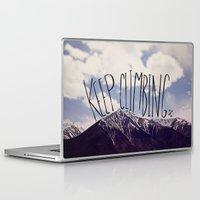climbing Laptop & iPad Skins featuring Keep Climbing by Leah Flores
