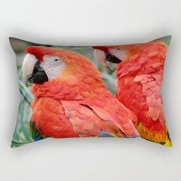 Scarlet Macaws Rectangular Pillow