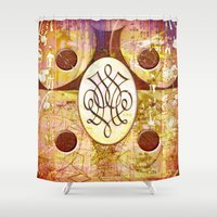 dale cooper Shower Curtains featuring Dale (#TheAccessoriesSeries) by Wayne Edson Bryan