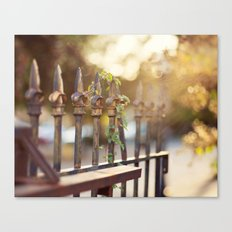 Bokeh and Fleur de Lis Canvas Print