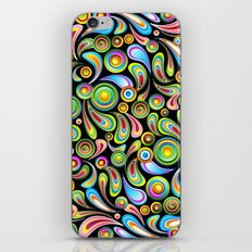Psychedelic Color Drops Abstract Art Design iPhone Skin