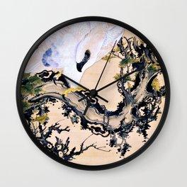 Ito Jakuchu - Dead Wood And Eagle, Monkey - Digital Remastered Edition Wall Clock