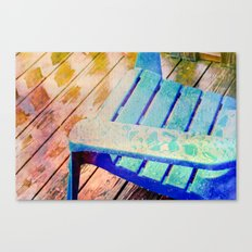 Rainy Day Blue Canvas Print