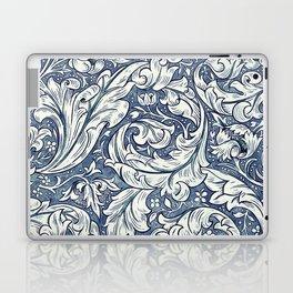 William Morris Navy Blue Botanical Pattern 3 Laptop & iPad Skin