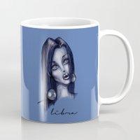 libra Mugs featuring Libra by Sam Pea