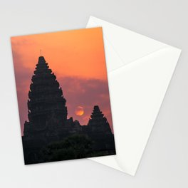 Cloudy sunrise at Angkor Wat Stationery Cards