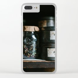 Vintage Pantry & Spices Clear iPhone Case