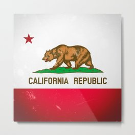 The Old Bear Flag - Californian flag old late Metal Print