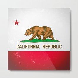The Old Bear Flag - Californian flag old late Metal Print