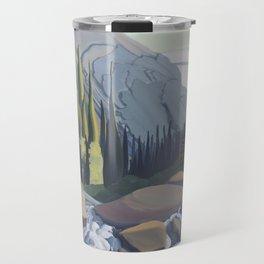 Dazzling Descent - mountain river Travel Mug