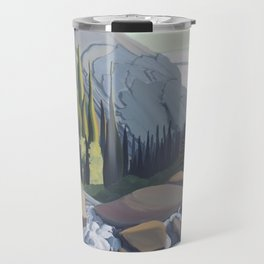 Dazzling Descent - mountain river Travel Mug