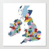 uk Canvas Prints featuring UK by Project M
